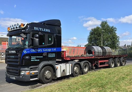 Butlers Haulage Coil Trailers